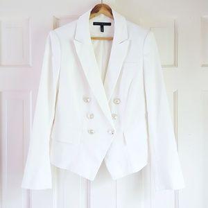 WHBM Double Breasted Jacquard Jacket Blazer